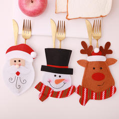 Christmas Merry Christmas Snowman Reindeer Santa Non-Woven Fabric Tableware Cover
