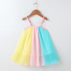 Toddler Girl Colourblock Chiffon Dress