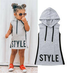 Baby Girl Letter Print Cotton Dress