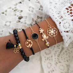 Unique Romantic Alloy Women's Ladies' Girl's Bracelets 5 PCS