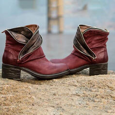 Women's PU Chunky Heel Ankle Boots With Split Joint shoes
