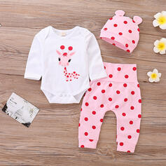 3-pieces Baby Girl Deer Animal Cotton Set