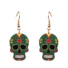 Fashionable Skull Infinity Alloy Women's Ladies' Unisex Girl's Earrings