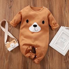 Baby Cartoon Button Animal Cotton One-piece