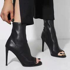 Women's PU Stiletto Heel Heels With Zipper shoes