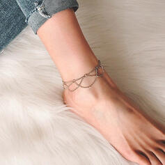 Simple Charming Fancy Metal Anklets