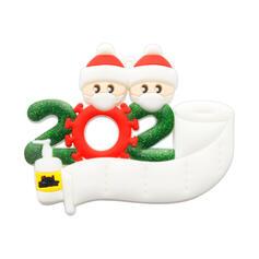 Christmas Decorative Santa Hanging 2020 Survivor PVC Tree Hanging Ornaments Christmas Ornements