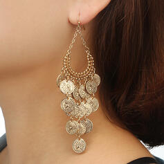 Fashionable Classic Oval Alloy With Zircon Earrings 2 PCS
