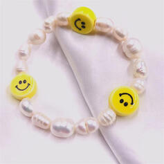 Simple Delicate Luck Pearl With Circle Decor Women's Ladies' Girl's Bracelets