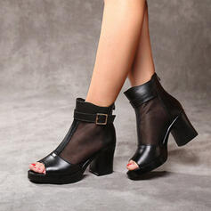 Women's PU Others Sandals Peep Toe High Top With Buckle shoes