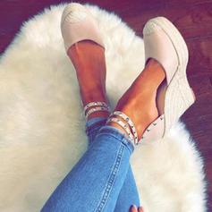 Women's PU Wedge Heel Wedges With Rivet Buckle shoes