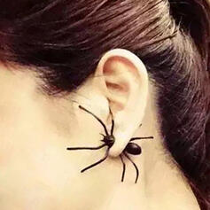 Halloween Spider Alloy Earrings 1 PC