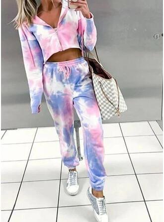 Cotton Long Sleeves Tie Dye Pyjama Set