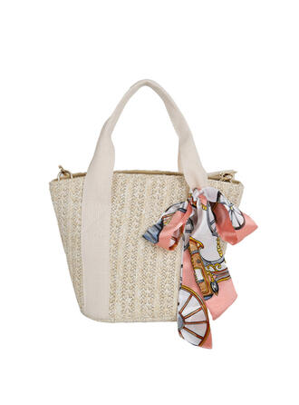 Unique/Commuting/Splice Color/Bohemian Style/Braided Tote Bags/Shoulder Bags/Beach Bags/Hobo Bags
