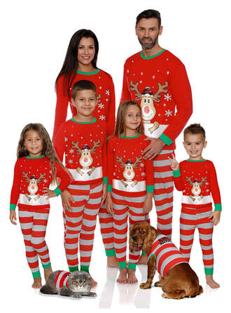 Deer Striped Family Matching Christmas Pajamas