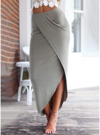 Knitting Plain Mid-Calf Asymmetrical