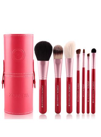 7 PCS Two Tone Handle Plain Nylon Makeup brush sets