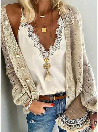 Solid Graphic Cardigan