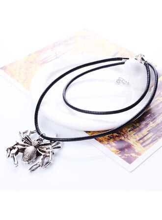 Simple Halloween Spider Alloy Necklaces