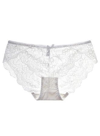 Lace Embroidery Jacquard Brief Panty