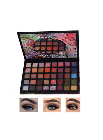 40-color Shimmer Eyeshadow Palette With Box