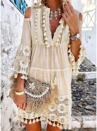 Solid Color V-Neck Sexy Boho Cover-ups Swimsuits