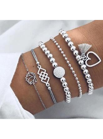 Stylish Charming Valentine's Day Alloy Women's Ladies' Bracelets (Set of 5 pairs)