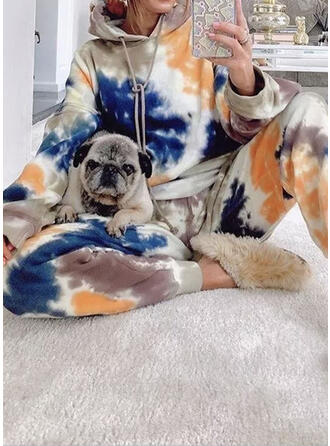 Tie Dye Casual Sweatshirts & Two-Piece Outfits Set