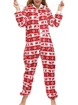 Polyester Long Sleeves Christmas Romper