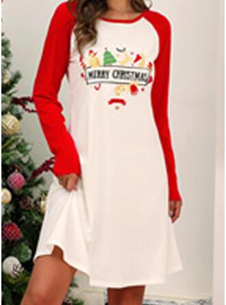 Polyester Long Sleeves Christmas Night Dress