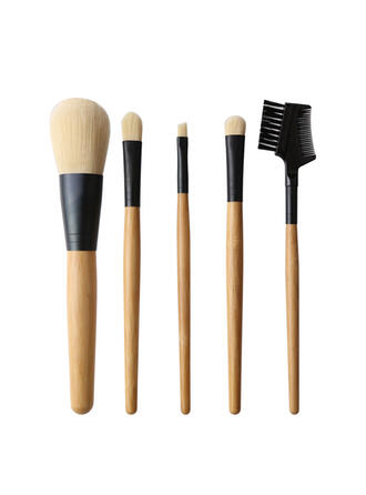 5 PCS Two Tone Handle Plain Polyester Makeup brush sets