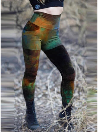 Plus Size Gradient Long Boho Casual Pants Leggings