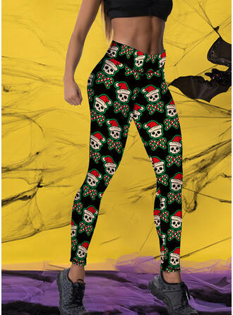 Print Plus Size Halloween Long Sexy Yoga Leggings