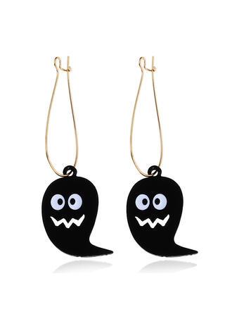 Halloween Ghost Alloy Leather Earrings 2 PCS