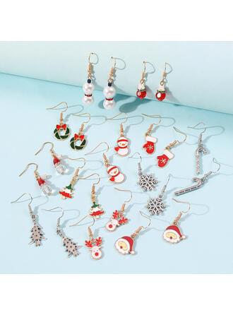 Alloy Women's Ladies' Girl's Earrings (Set of 12 pairs)
