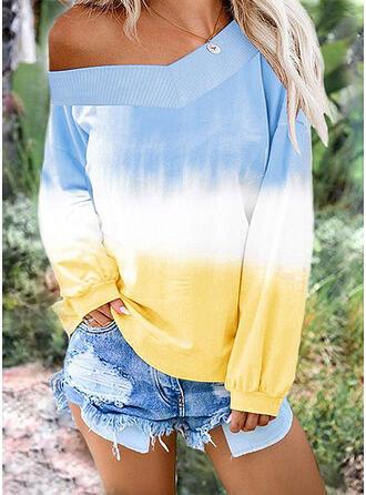 Tie Dye One Shoulder Long Sleeves Sweatshirt