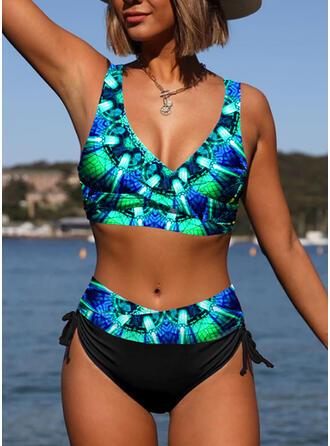 Print Vacation Bikinis Swimsuits
