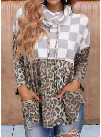 Leopard Hooded Long Sleeves Christmas Sweatshirt