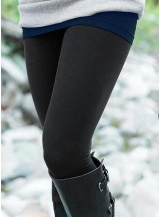 Solid Long Casual Plus Size Leggings