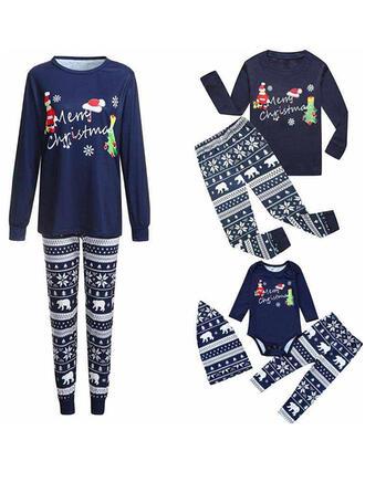 Santa Bear Letter Family Matching Christmas Pajamas