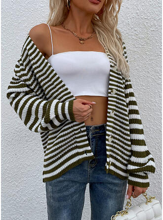 Striped Casual Sweaters