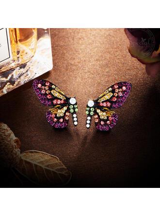 Shining Butterfly Alloy Rhinestones Women's Earrings 2 PCS