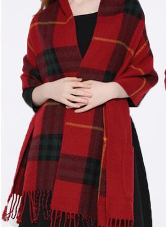 Plaid/Tassel Oversized/Shawls/fashion Scarf/Shawl
