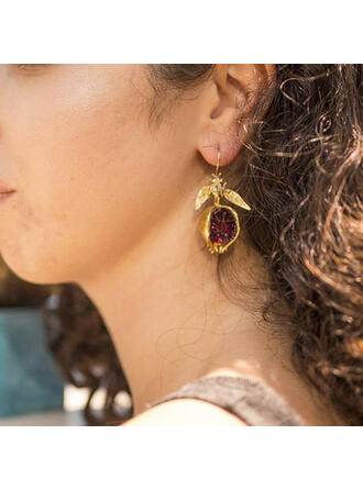 Fashionable Fruit Alloy Resin Women's Earrings 2 PCS