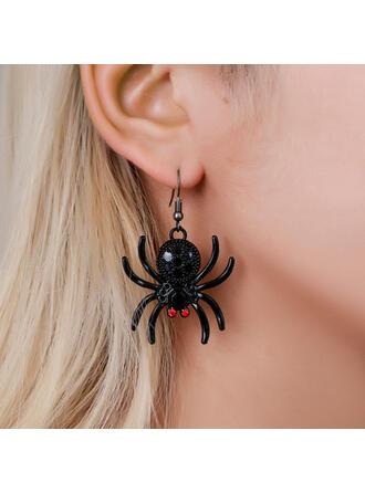 Halloween Spider Alloy Resin Earrings 2 PCS