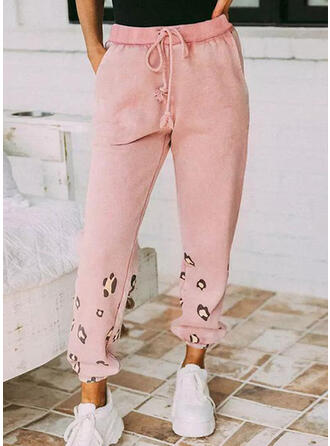 Leopard Long Casual Pants