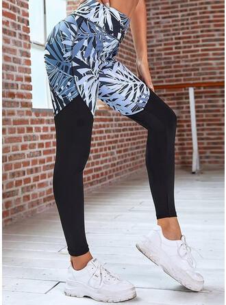 Print Long Sporty Stitching Lounge Pants
