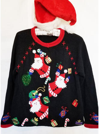 Women's Print Santa Ugly Christmas Sweater