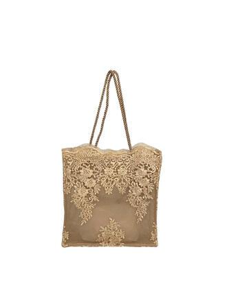 Elegant/Charming/Vintga/Bohemian Style/Floral/Braided Tote Bags/Bridal Purse/Beach Bags/Bucket Bags/Hobo Bags