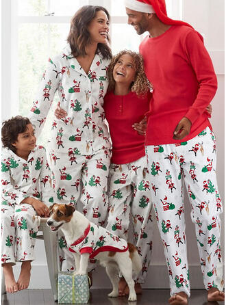 Santa Reindeer Print Family Matching Christmas Pajamas